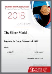 Medallas Plata Dominio de Ontur Monastrell